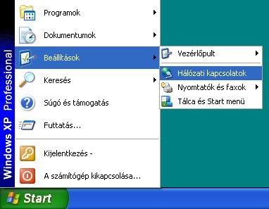 Windows XP Start Menü, Beállítások