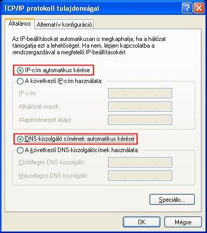 IP beállítások