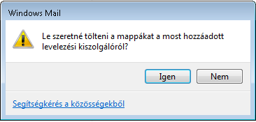 levelek letöltése - Windows Mail