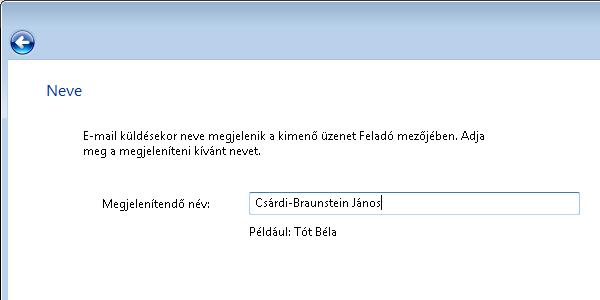 Windows Mail - név