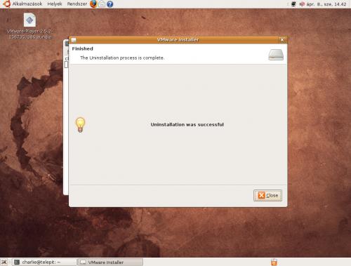 VMware Player eltávolítása