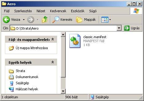 \Strata\Aero, benne a Vista kinézethez szükséges fájl