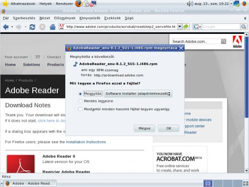 Adobe Reader letöltése Firefox-val