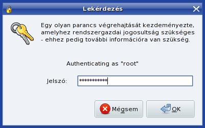 root jelszó megadása