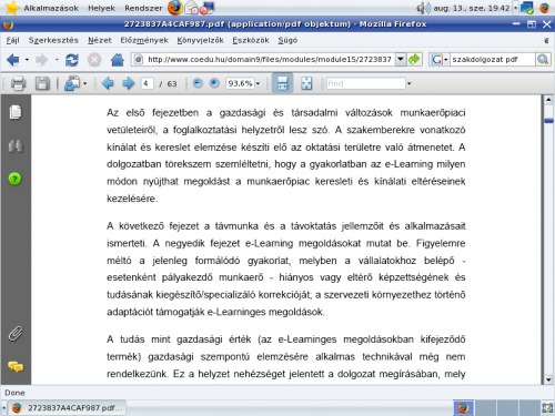 Adobe Reader a Firefox böngészőben