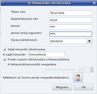 Új felhasználó felvitele