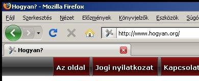 Firefox 3 Windows XP alatt, klasszikus kinézettel