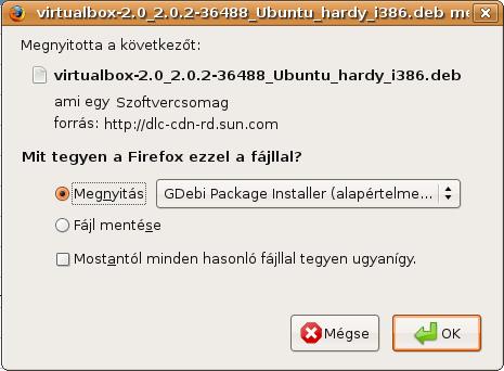 Firefox letöltési ablak
