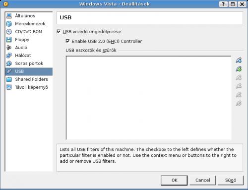 USB engedélyezése