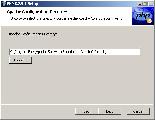 Apache konfigurációs fájlok helyének meghatározása