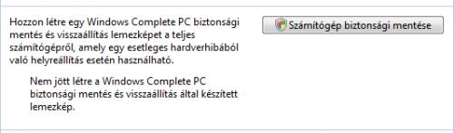 Számítógép teljes mentése
