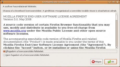 Firefox EULA elfogadása