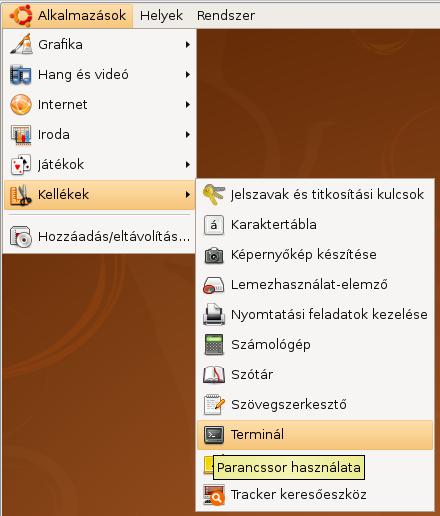 Terminál elindítása Ubuntu alatt