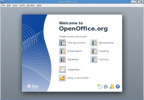 OpenOffice.org 3 Indítópult