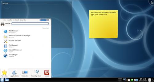 KDE 4.1 (Kubuntu) asztal