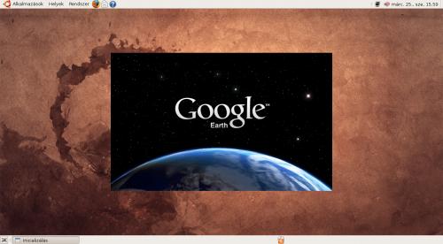 Google Earth indulás