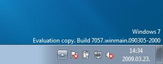 Windows 7 béta vízjel