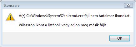 A fájl nem tartalmaz ikont
