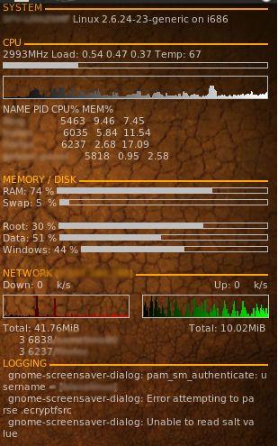 Conky képernyőkép