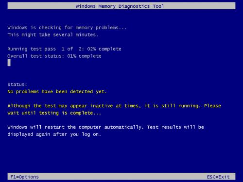 Windows Memory Diagnostic Tool