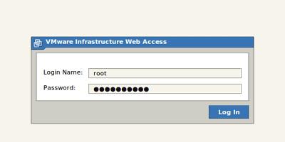 VMware kezelőfelületbe belépés