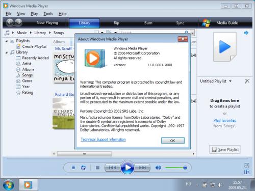 Windows Media Player 11 Windows 7 alatt