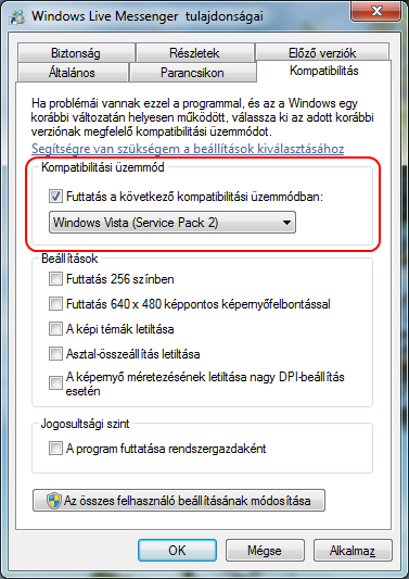 Windows Live Messenger Tulajdonságai