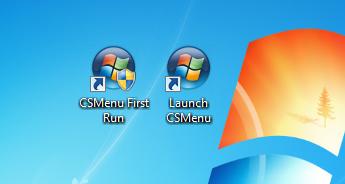 CSMenu ikonok az Asztalon