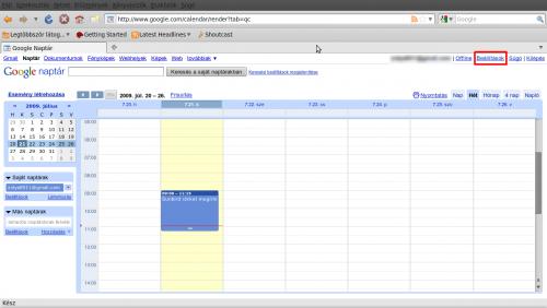 A Google Calendar