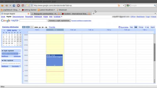 esemény a Google Calendar-ban