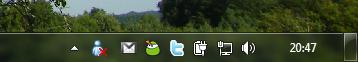 Windows Live Messenger ikonja a Tálca értesítési területén