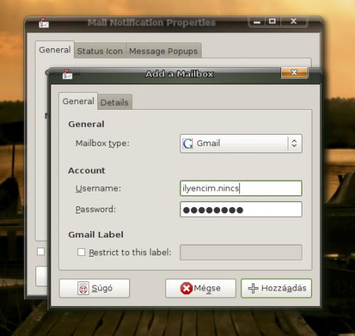 Gmail account hozáadása
