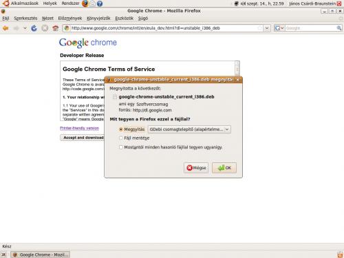 Google Chrome letöltése