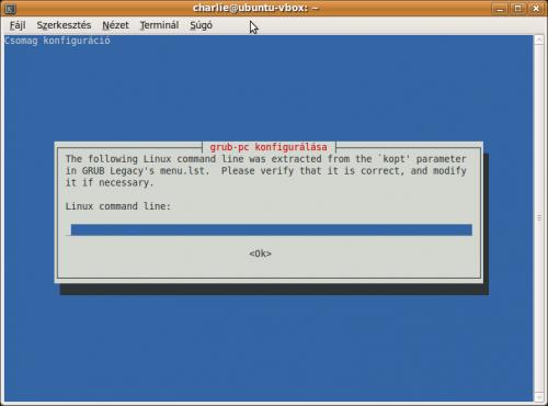 Linux command line kérdés