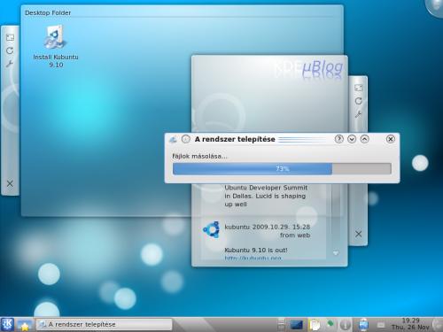 Kubuntu telepítése