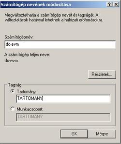 Windows tartományba léptetése