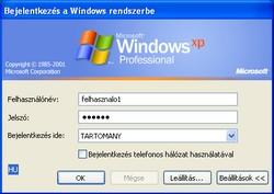 Bejelentkezés a Windows rendszerbe