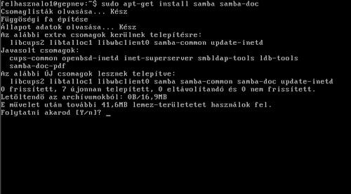 sudo apt-get install samba
