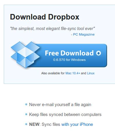 Dropbox Windowsra