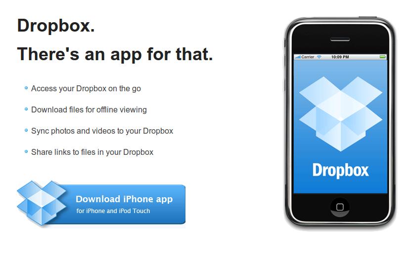 Dropbox iPhone-ra