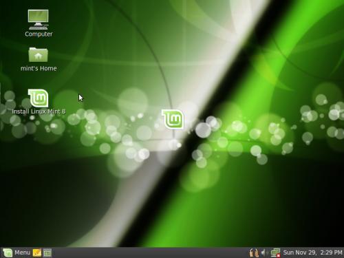 A Linux Mint 8 alsztala