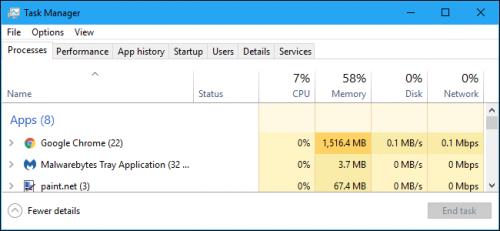 Windows feladatkezelő