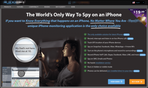 """iPhone """"Spy"""" Software"""