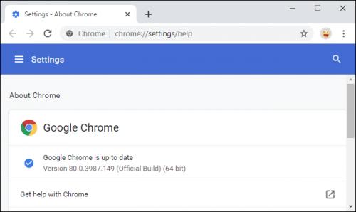 Google Chrome frissitesek