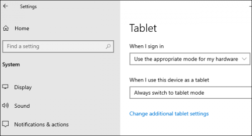 Automatic Tablet Mode
